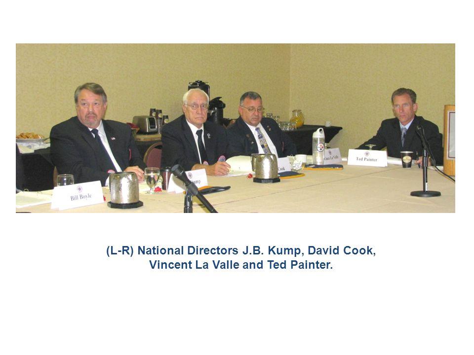 (L-R) National Directors J.B. Kump, David Cook, Vincent La Valle and Ted Painter.