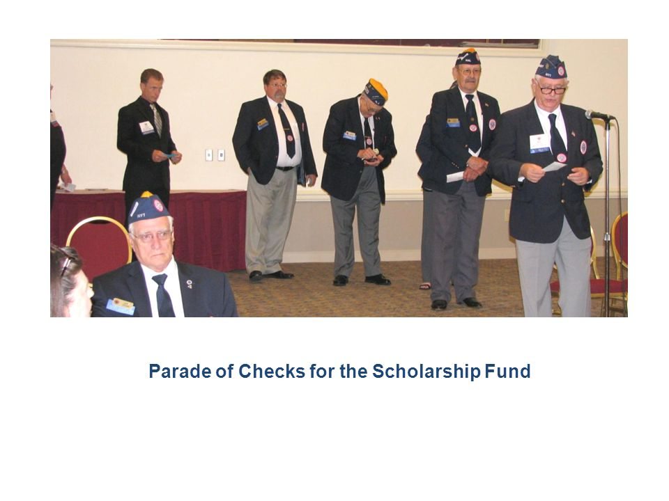 Parade of Checks for the Scholarship Fund