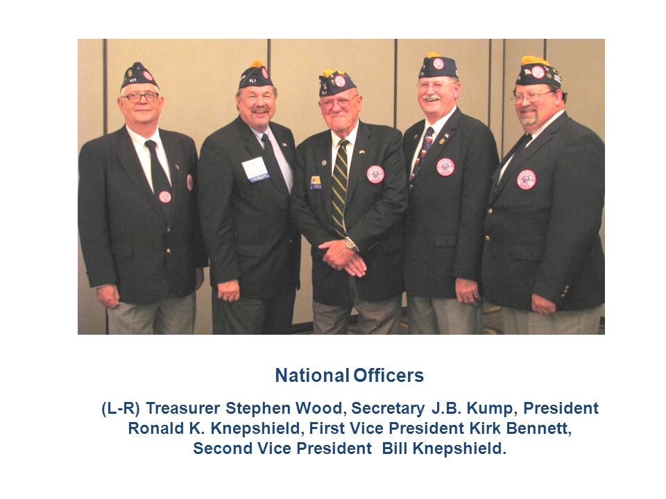 National Officers (L-R) Treasurer Stephen Wood, Secretary J.B.