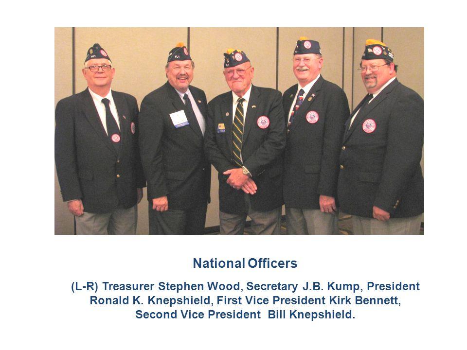 National Officers (L-R) Treasurer Stephen Wood, Secretary J.B. Kump, President Ronald K. Knepshield, First Vice President Kirk Bennett, Second Vice Pr