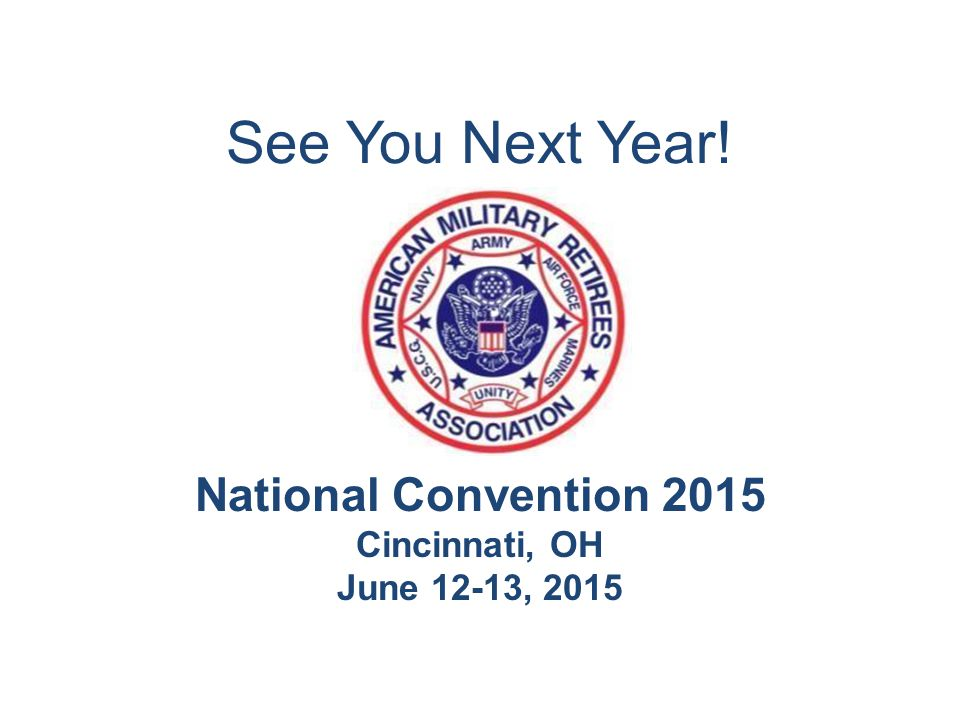 National Convention 2015 Cincinnati, OH June 12-13, 2015 See You Next Year!