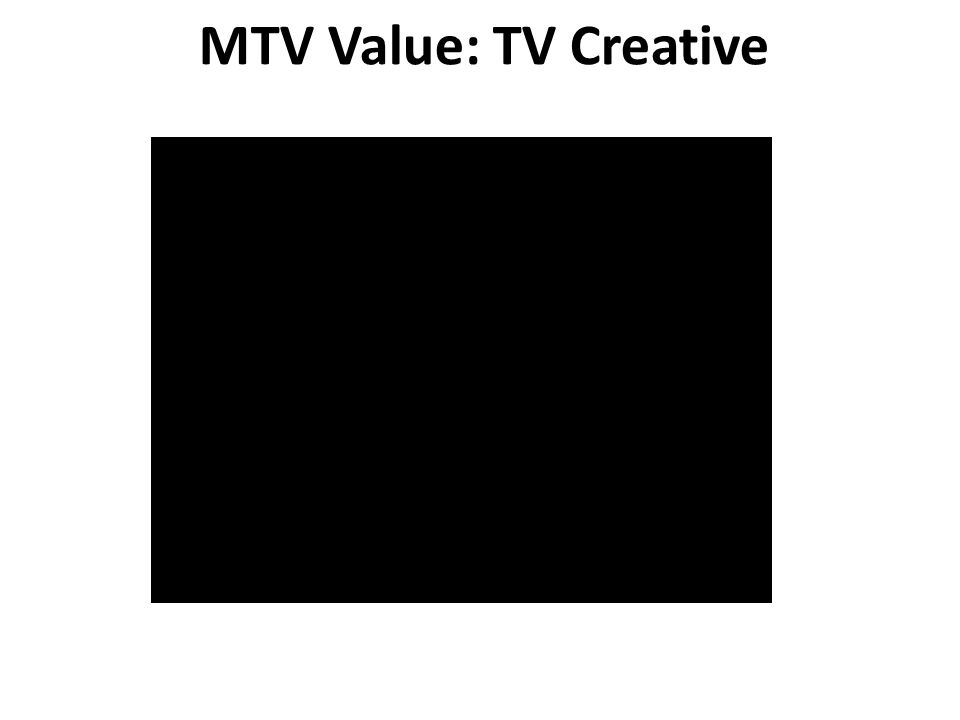MTV Value: TV Creative