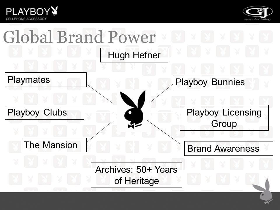 Playmates Hugh Hefner The Mansion Archives: 50+ Years of Heritage Playboy Bunnies Playboy ClubsPlayboy Licensing Group Brand Awareness Global Brand Power
