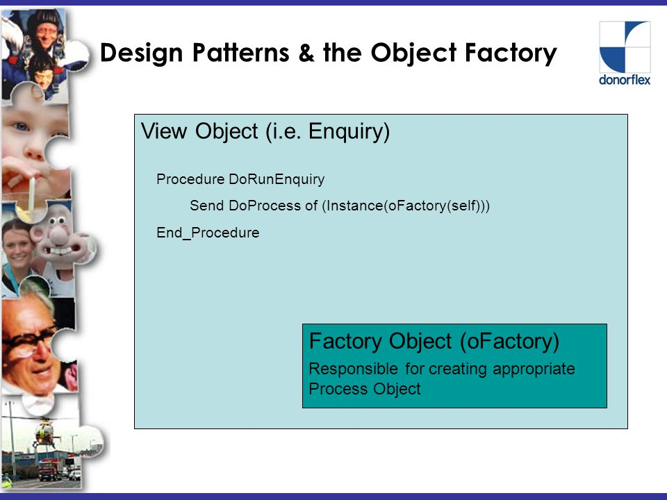 Design Patterns & the Object Factory View Object (i.e.
