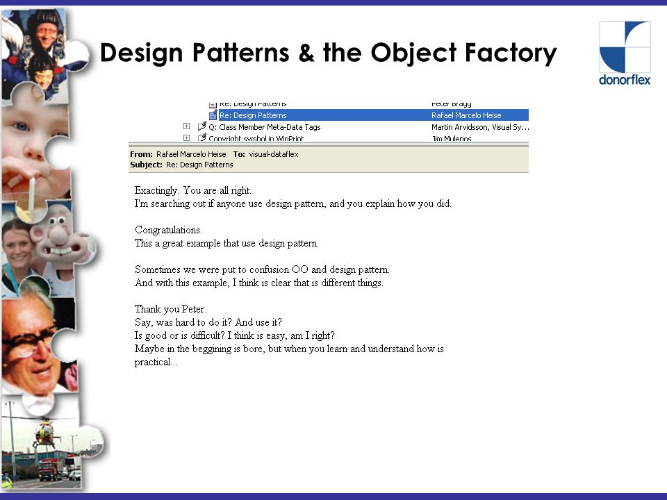 Design Patterns & the Object Factory