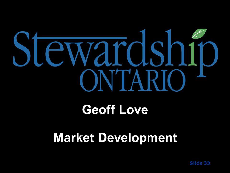 Geoff Love Market Development Slide 33