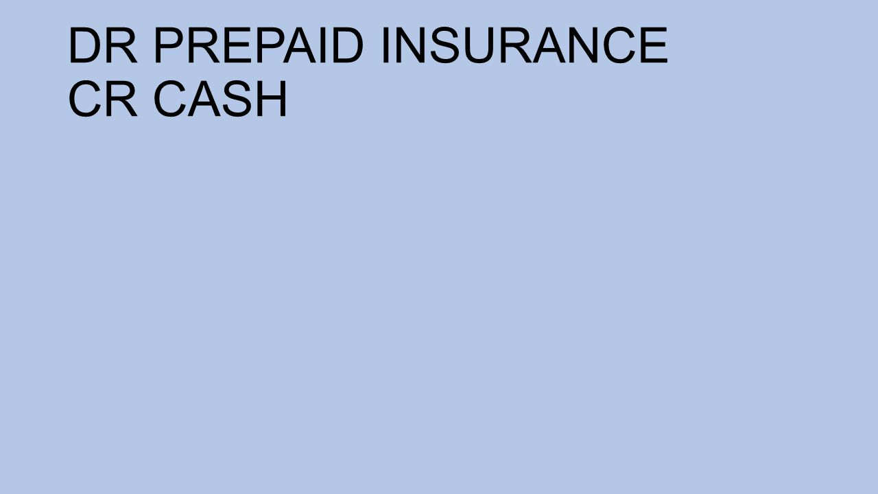 DR PREPAID INSURANCE CR CASH