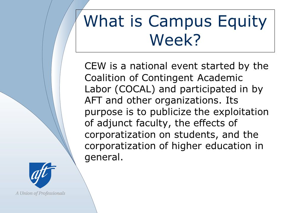 What is Campus Equity Week.