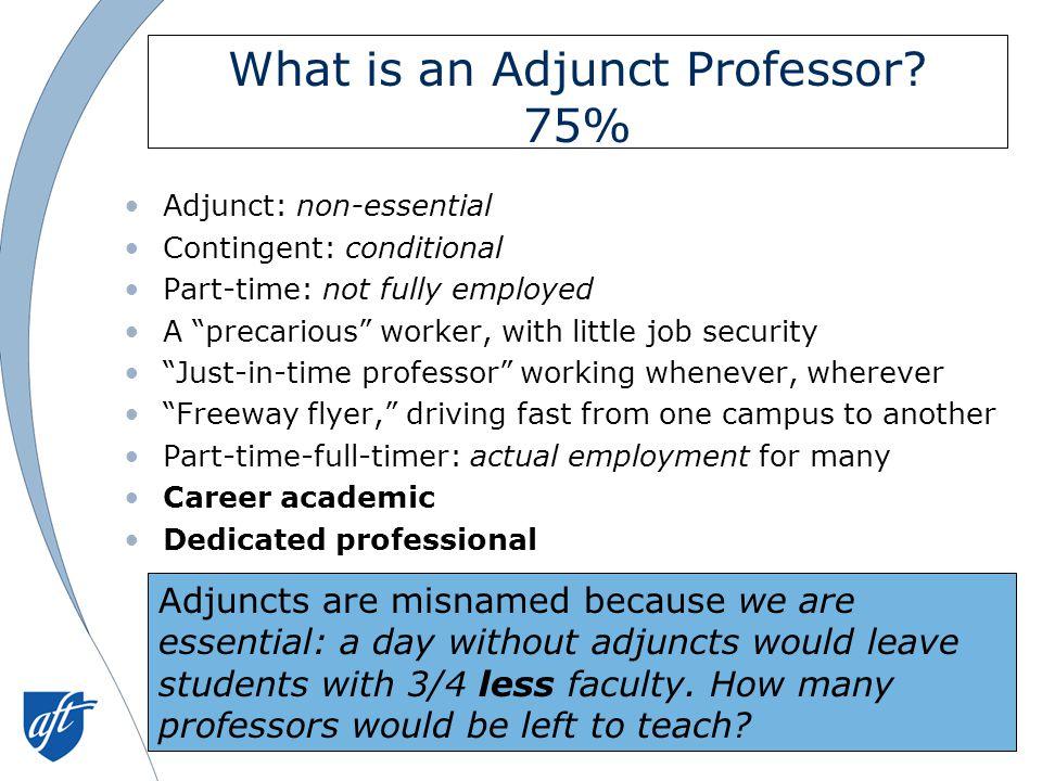 What is an Adjunct Professor.