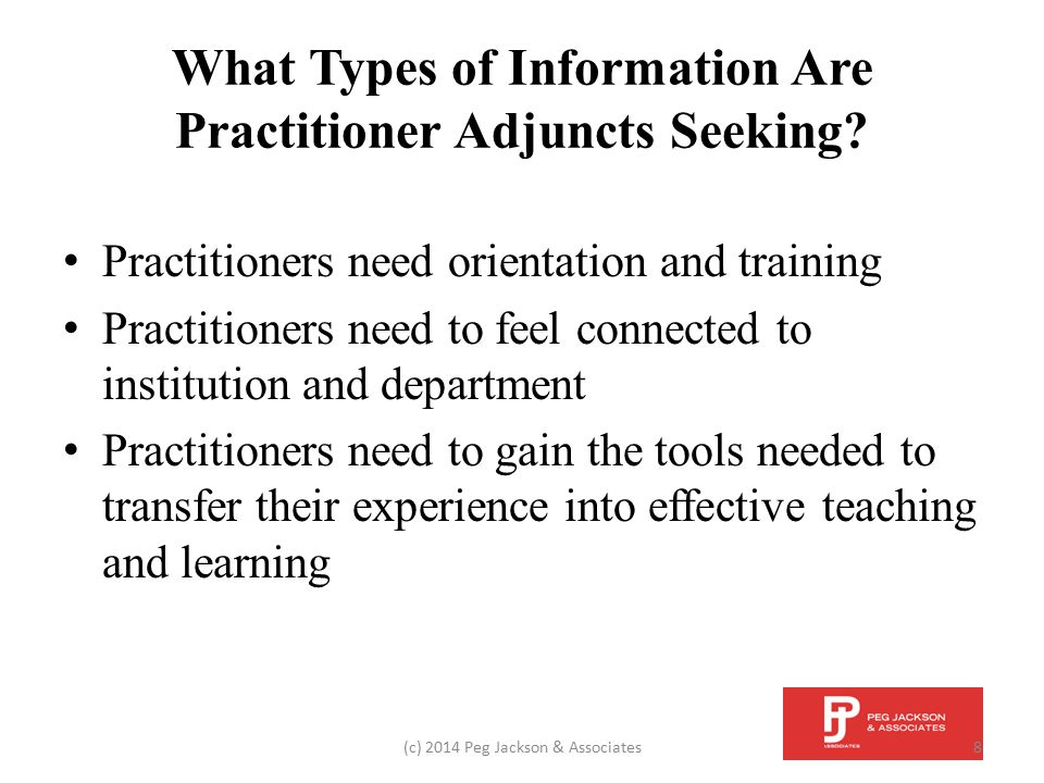 Summary Adjuncts are an important part of the faculty of most academic institutions.