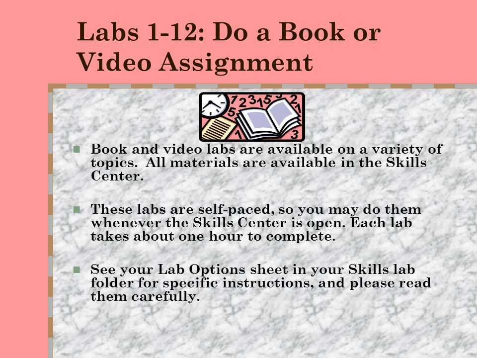 Lab G: P.A.S.S. 232  This lab is designed for students who are using EDC or DSS services on campus.  You may meet with a Skills instructor to plan y