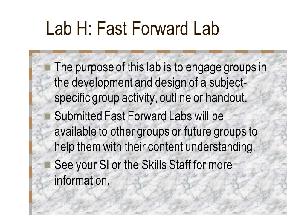 Labs 1-12: Do a Book or Video Assignment Book and video labs are available on a variety of topics.