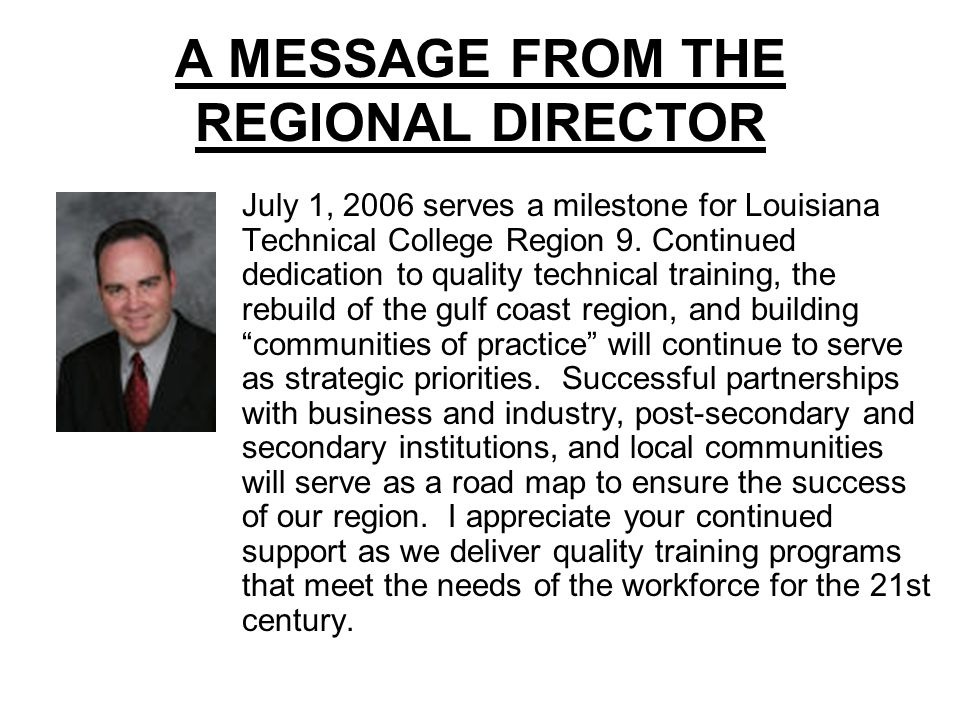 Region 9 Organization