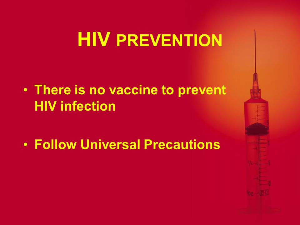 COURSE OF INFECTION WITH HIV Incubation period from HIV infection to AIDS can be 8 to 10 years Varies greatly among individuals