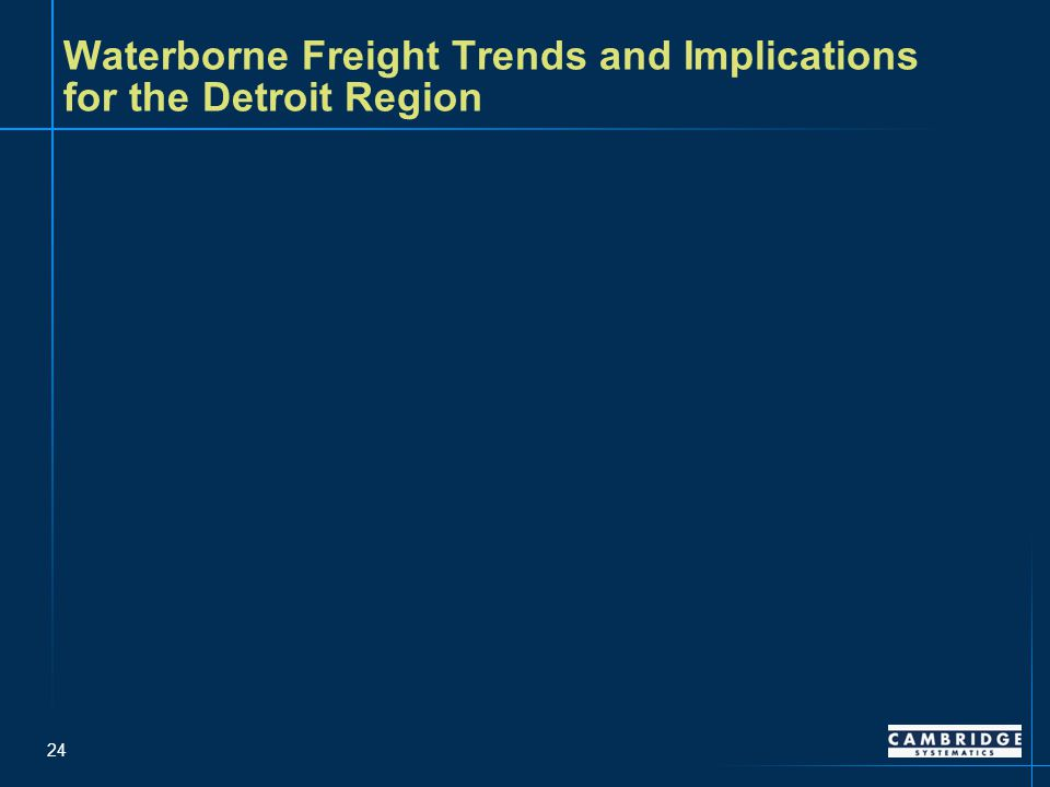 24 Waterborne Freight Trends and Implications for the Detroit Region