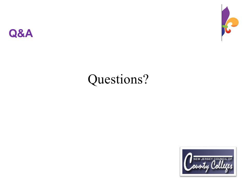 Q&A Questions 27