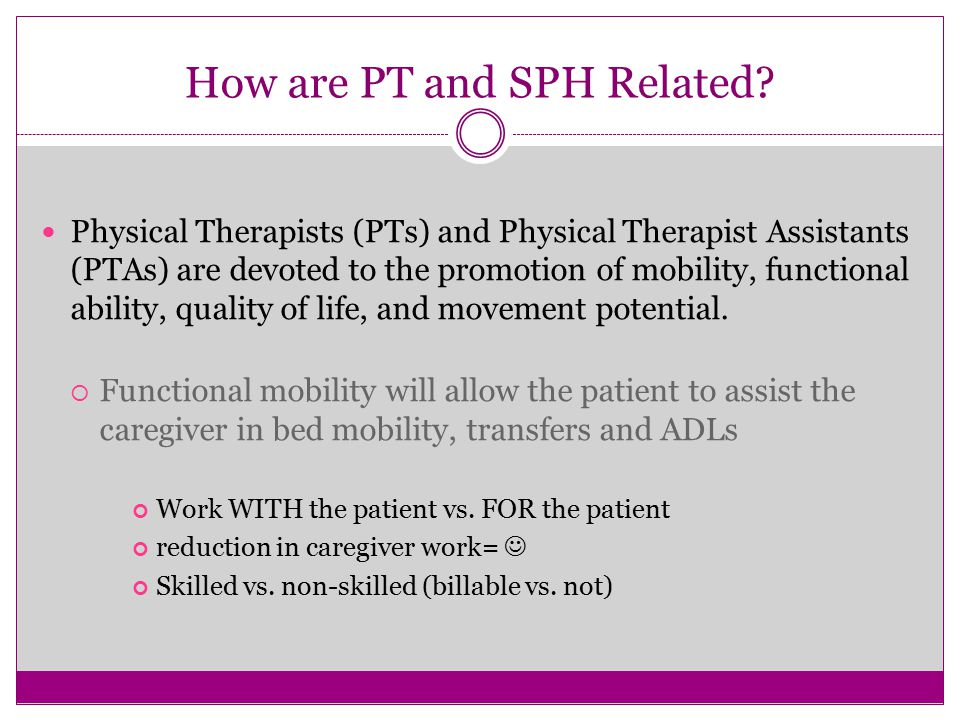 How are PT and SPH Related.