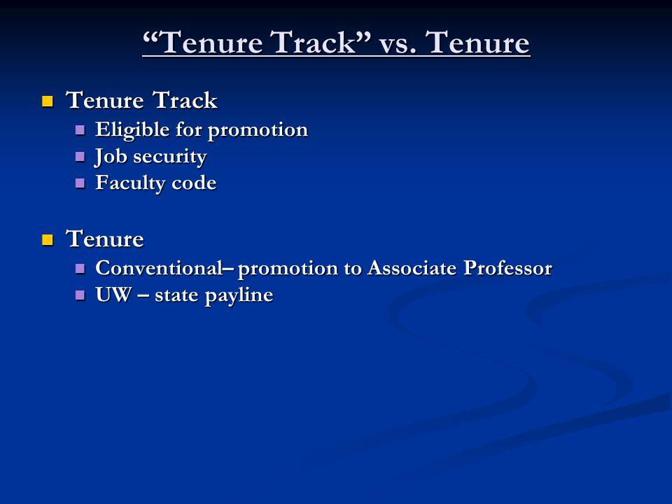 Tenure Track vs.