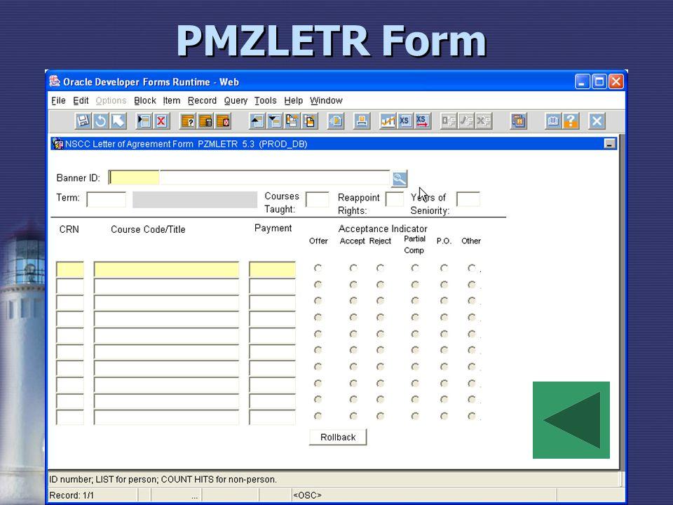 PMZLETR Form