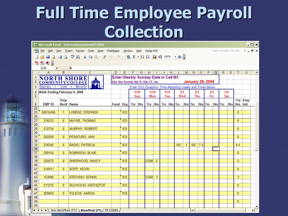 Full Time Employee Payroll Collection
