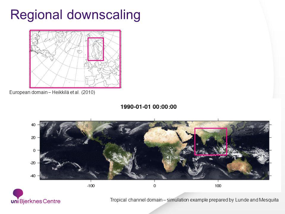 Regional downscaling European domain – Heikkilä et al.