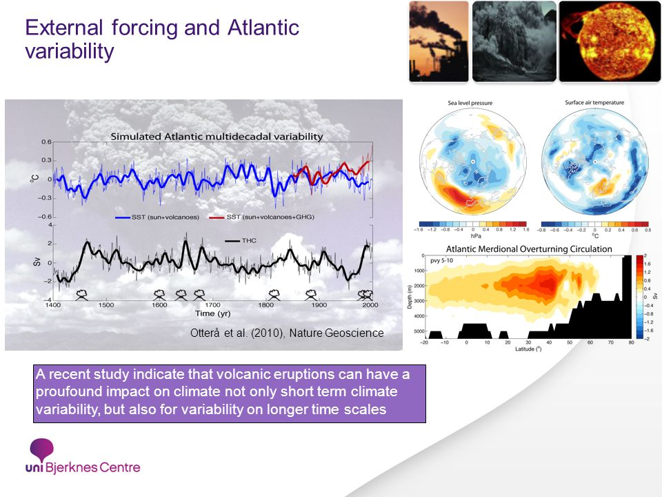 External forcing and Atlantic variability Otterå et al.