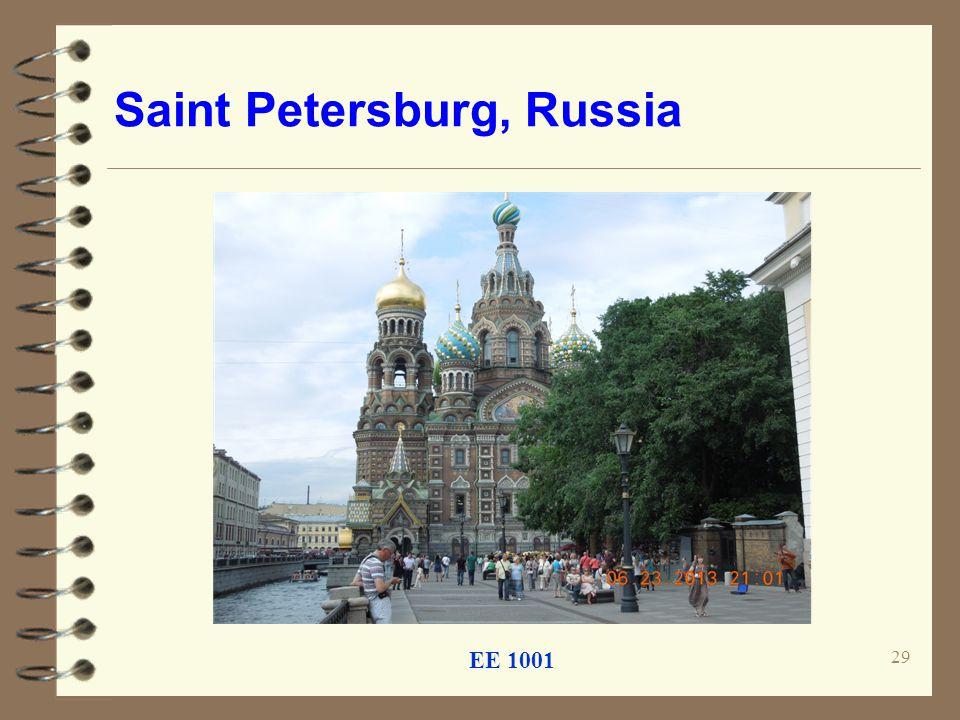 Saint Petersburg, Russia EE 1001 29