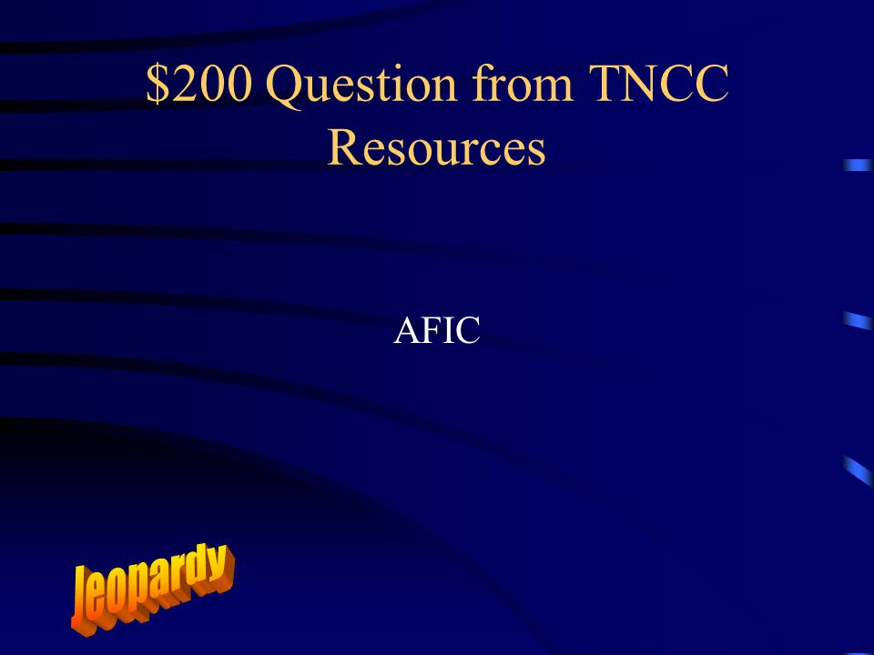 $100 Answer from TNCC Resources Who is Jan Klingberg