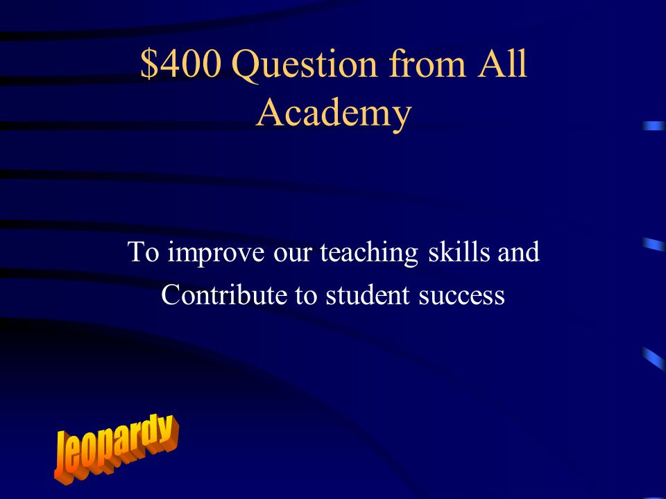 $300 Answer from All Academy What are the Adjunct Academy Dates