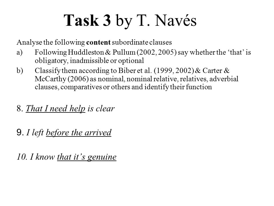 Key to Task 3 by T.