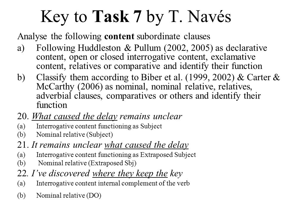 Key to Task 7 by T.