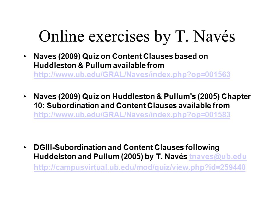 Online exercises by T.