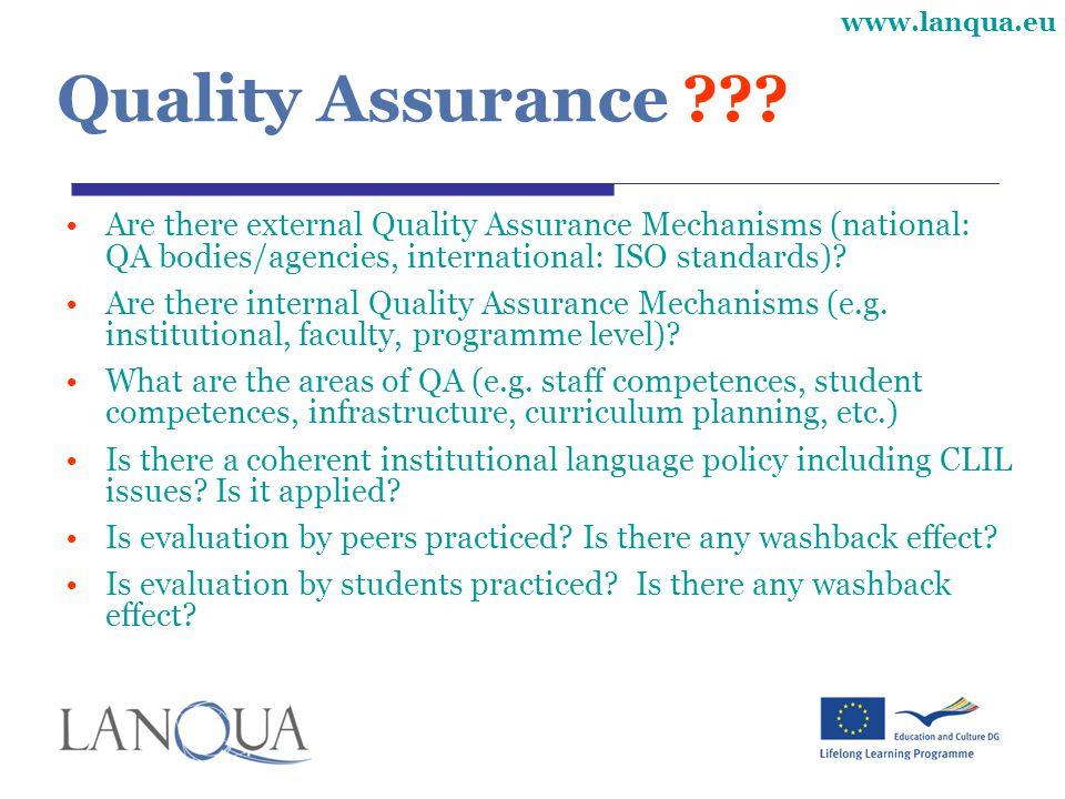www.lanqua.eu Quality Assurance ??.