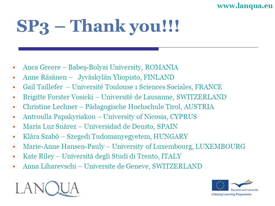 www.lanqua.eu SP3 – Thank you!!.