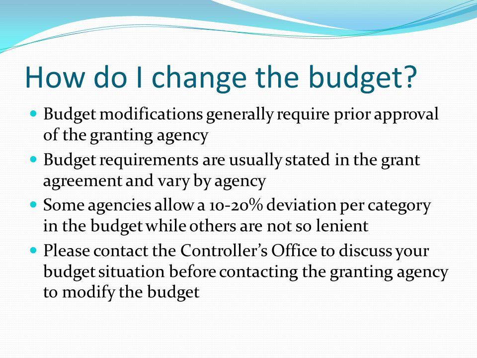 How do I change the budget.