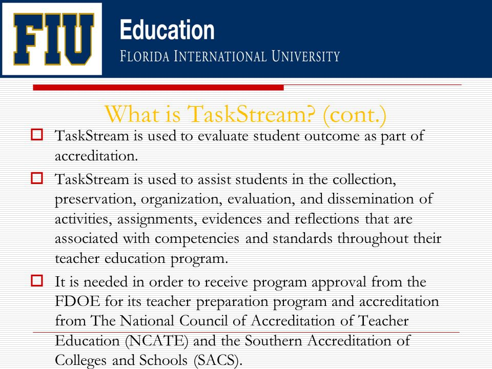What is TaskStream.