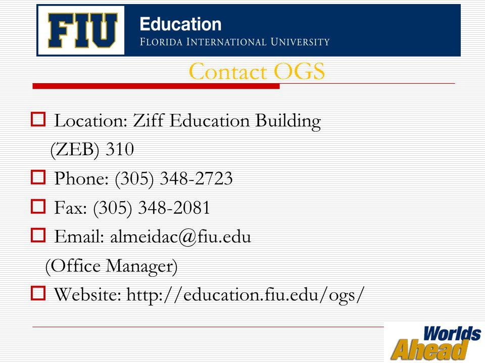 Office of Student Conduct & Conflict Resolution Modesto Maidique Campus GC 311 305-348-3939 conduct.fiu.edu