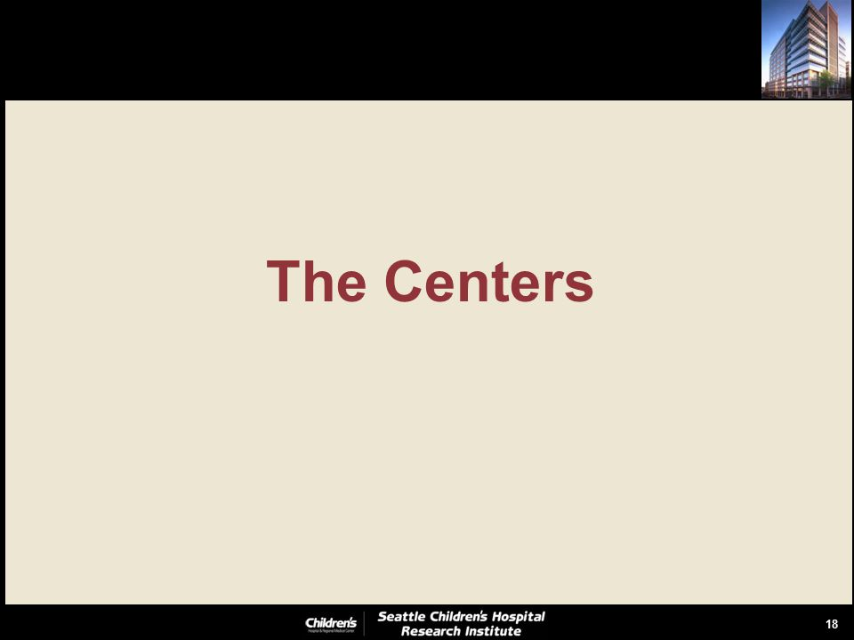 18 The Centers
