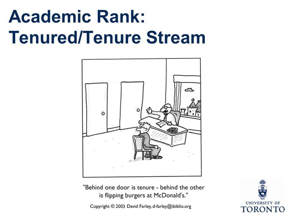 Academic Rank: Tenured/Tenure Stream