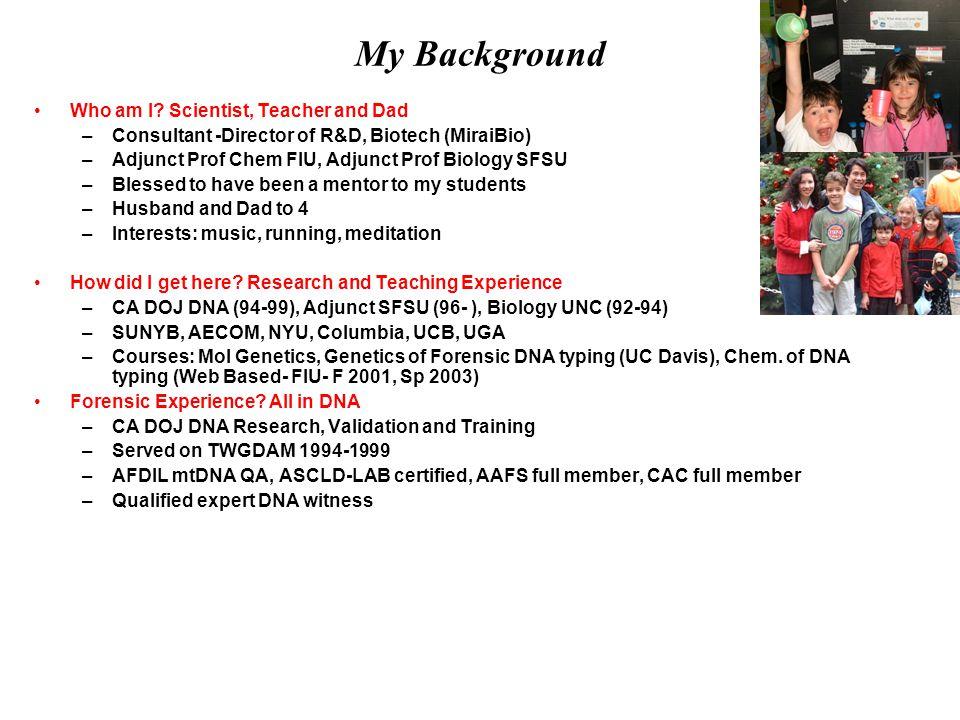 My Background Who am I.