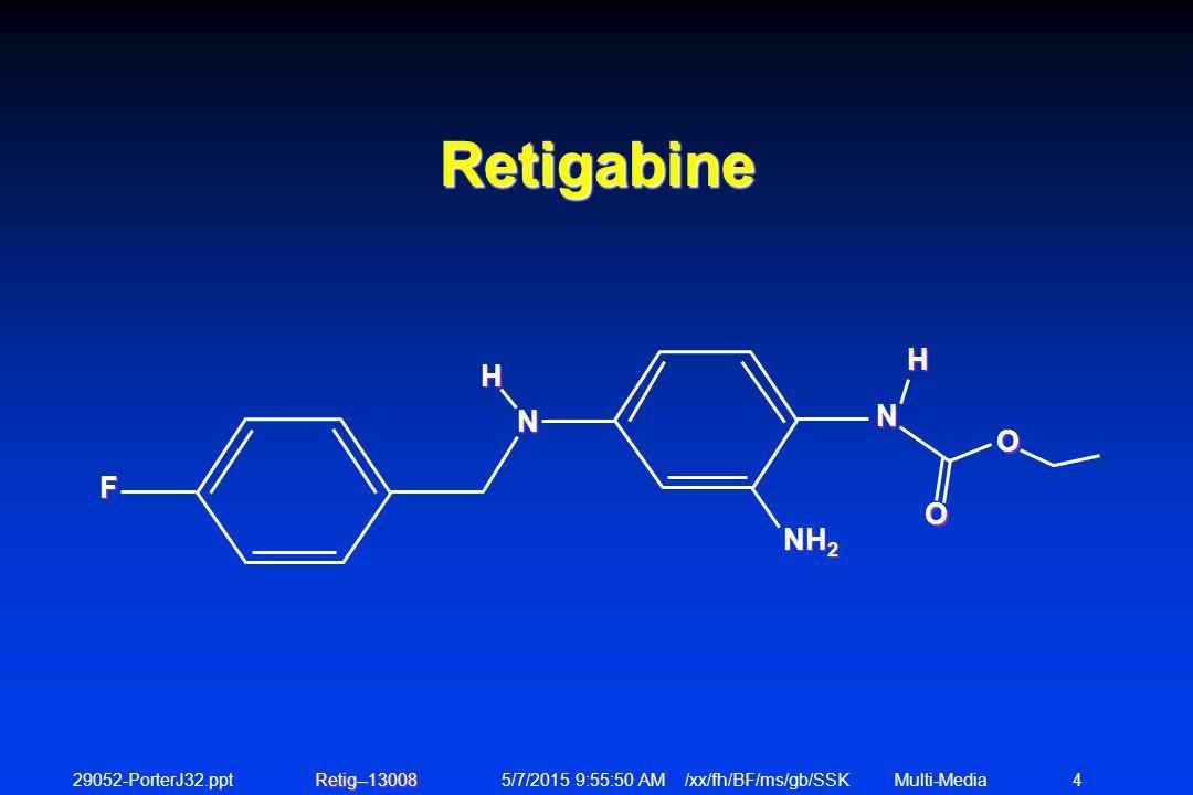 29052-PorterJ32.ppt 5/7/2015 9:56:12 AM /xx/fh/BF/ms/gb/SSKMulti-Media 5 Retigabine is Effective in the Following Models of Epilepsy: 1.