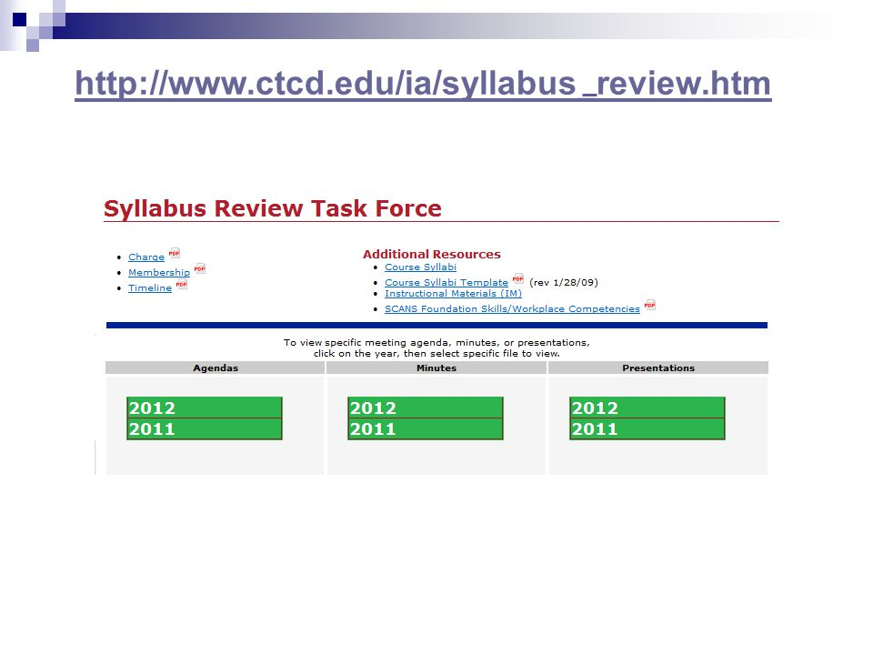 http://www.ctcd.edu/ia/syllabus_review.htm
