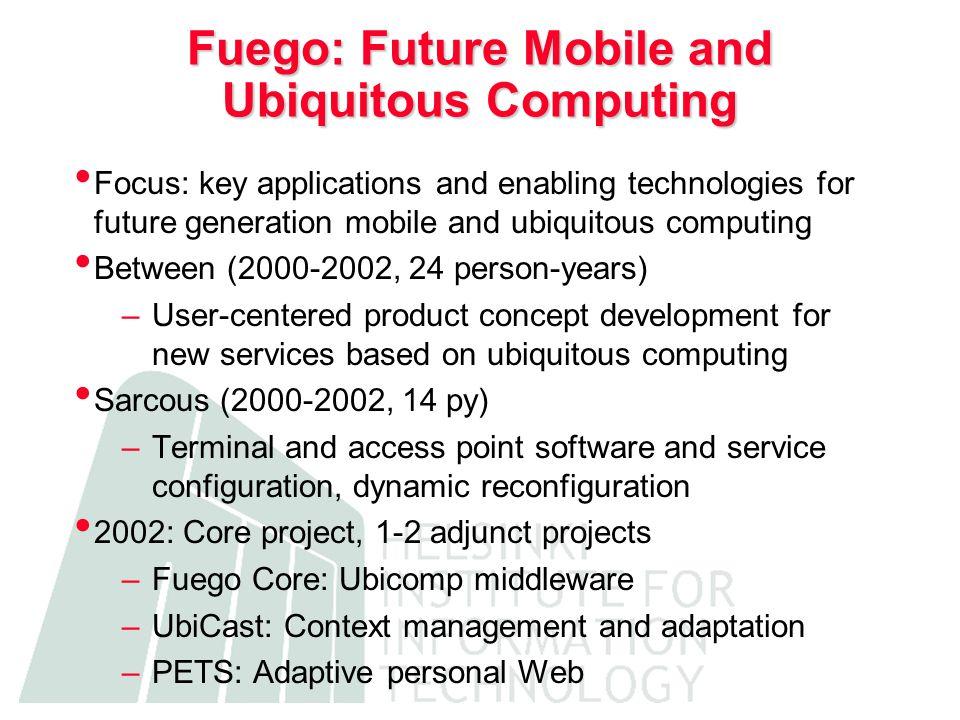 Raatikainen Fuego CORE Middleware for Mobile Wireless Internet SoneraNokia Elisa More Magic UCB/EECS Randy Katz Fuego 2002 UIAH Ind.