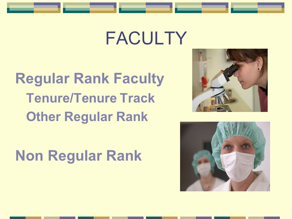 FACULTY Regular Rank Faculty Tenure/Tenure Track Other Regular Rank Non Regular Rank