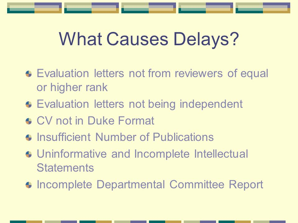 What Causes Delays.