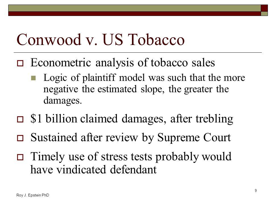 Roy J. Epstein PhD 9 Conwood v.
