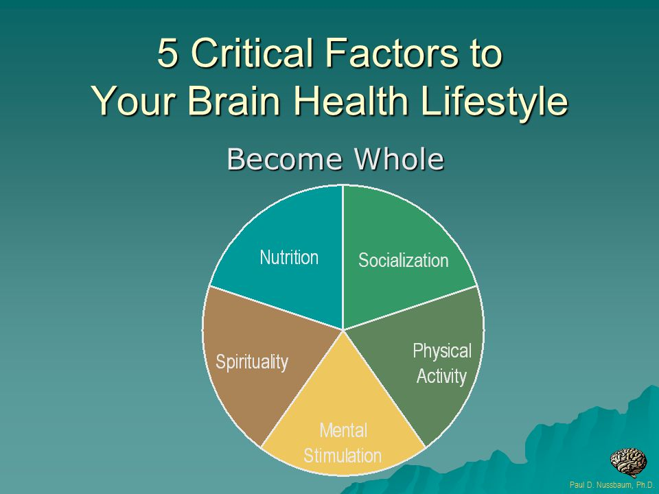 5 Critical Factors to Your Brain Health Lifestyle Become Whole Paul D.