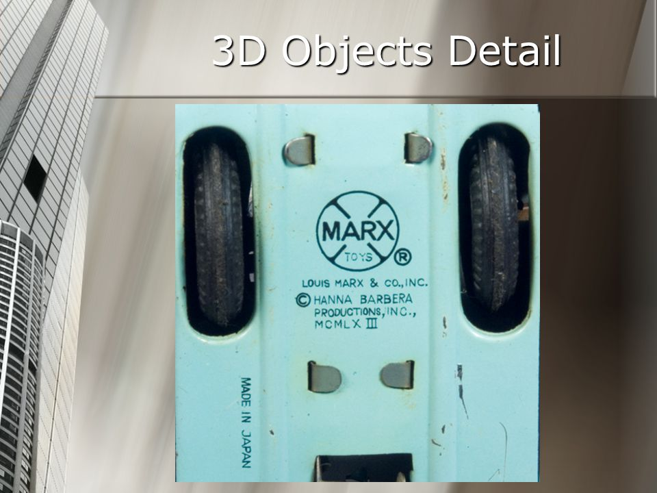 3D Objects Detail