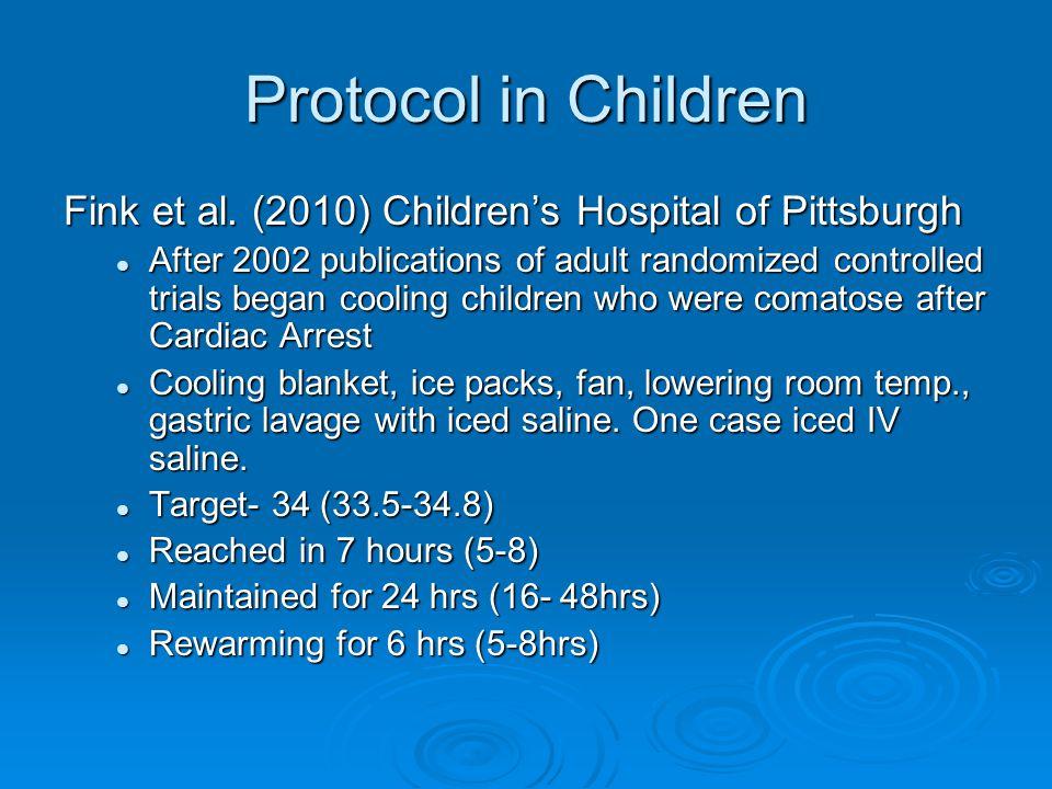 Protocol in Children Fink et al.
