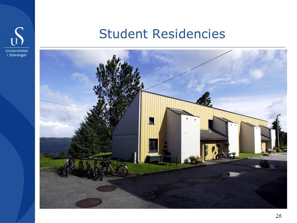 26 Student Residencies
